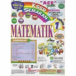 """""""ACE"""" Praktis KSSR Semakan Matematik Tahun 1"""
