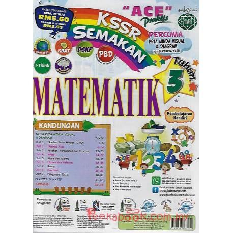 """""""ACE"""" Praktis KSSR Semakan Matematik Tahun 3"""