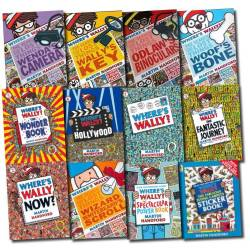 Where's Wally? Search for the lost things sticker poster set (12 books)