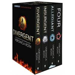 Divergent Insurgent Allegiant Trilogy Collection box (4 books)